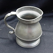Pewter Half-Pint Measure, Marked Underneath Rim