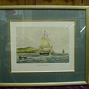 Fine Arts Ship Print, Lord Lowther, Engraved by Duncan, Painted by Huggins