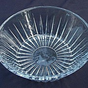 Val St. Lambert Clear Crystal Bowl