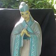 Stylized 1950s Mandarin Chalk Figurine