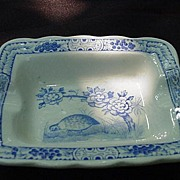 Furnival's Quail Blue Ashtray, Made in England, 1946