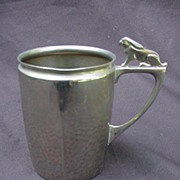 WMF Germany Silverplated Baby Cup, Bunny Handle