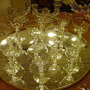 9 Libbey Eagle Stem Sherbert/Coupe Champagne Glasses