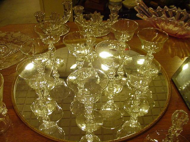 9 Libbey Eagle Stem Sherbert/Coupe Champagne Glasses