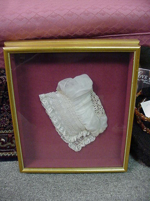 Charming Christening Cap with Lace and Tatted Inserts