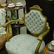 Louis XVI Style Tufted, Shield-Back. Upholstered, Armchair