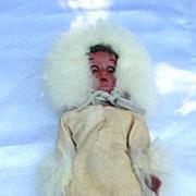 Vintage Eskimo Hard Plastic Doll