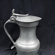 Pewter Tankard w Lid, Marked on Base