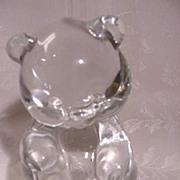 Fenton Glass Teddy Bear, Clear Crystal