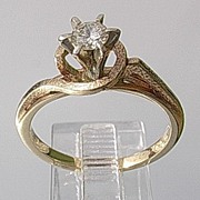 14kt Vintage Diamond Engagement Ladies Ring