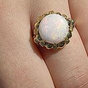 14kt Vintage Fiery Opal Ladies Ring