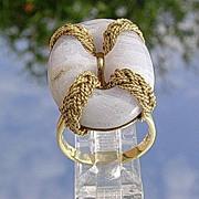 18kt Vintage Italian Light Purple Agate Ladies Ring