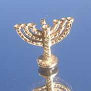 14kt Seven Branch Menorah Candelabrum Pendant