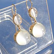 14kt Multi Moonstone Dangle Earrings