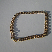 14kt Yellow Gold Vintage European Handmade Double Circular Link Ladies Bracelet