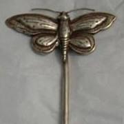 Antique Tibetan Silver Butterfly Phoenix Hair Pin