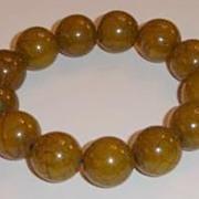 Tibetan Green Copal Bead Bracelet
