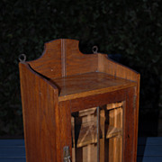 A Vintage Wooden Display Hanging Cabinet