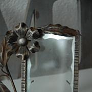 An Art Nouveau Wrought Iron Floral Picture Frame