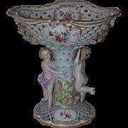 A Figural Floral  Porcelain Centerpiece Carl Thieme at Potschappel, Late 19th C.
