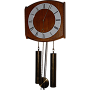 Vintage Modern Retro Design Wooden Wall Clock