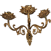 19th Century French Bronze 3-Arm Wall Sconce