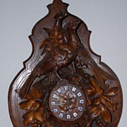 A Large Rare Antique Finest Carved Wood(Walnut) Swiss Black Forest Hunting Clock
