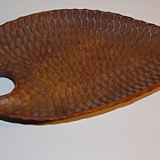 A Vintage carved Wooden Tray