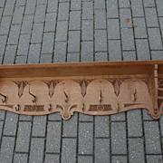 A Large Antique Carved Wood Coat-Rack