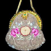 Elegant Vintage Beaded Jeweled Purse