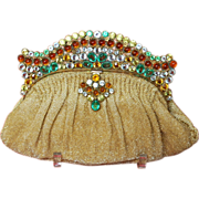 HUGE REDUCTION Spectacular Beaded Over the Top  Jeweled Josef Purse