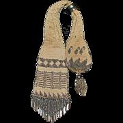 19th Century Steel Beaded Crochet Miser Purse Bag