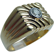 Estate Mens 14K Yellow Gold .25ct Diamond Ring for Man 11.5 grams Jewelry