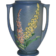 "Blue, Roseville Art Pottery, Foxglove, 45-6"" Vase"