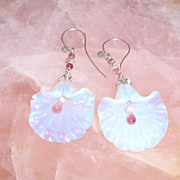 Sterling Silver Opal, Ruby and Tourmaline - Earrings
