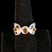 Past, Present & Future  Red Diamond Ring
