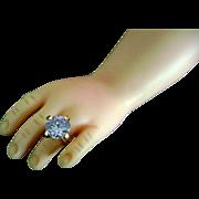 "Vintage Madame Alexander Cissy Doll Jewelry Rhinestone ""Diamond"" Ring Bride"