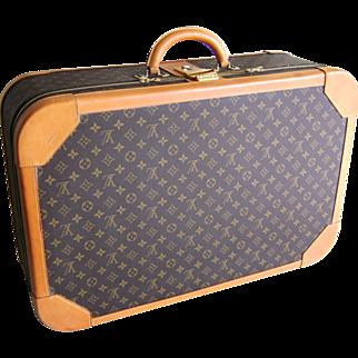 Vintage 1980's Louis Vuitton Monogram Luggage 27.5 inch Suitcase