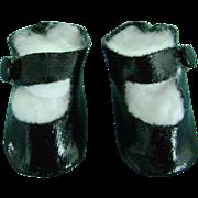 Vintage Orig Madame Alexander Oilcloth Side Snap Doll Shoes Effanbee Patsyette