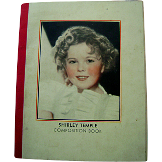 Vintage 1930's Movie Star Shirley Temple Composition Book display with Doll!!!