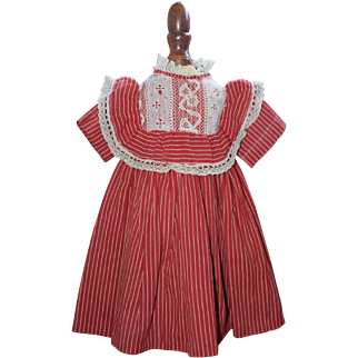 Red Cotton Print Doll Dress
