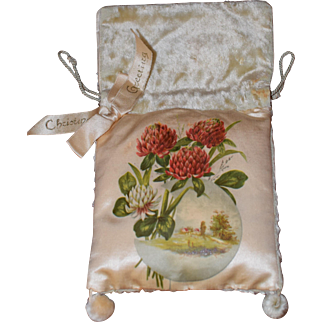 Wonderful Hand Painted Victorian Pouch (Christina)
