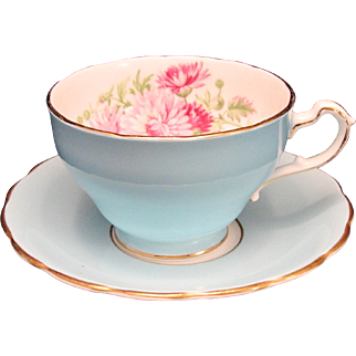 Foley Bone China Floral Teacup Saucer England