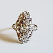 Platinum & Diamond Ring ~ circa 1920's