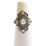 Vintage Diamond Ring ~ circa 1820's