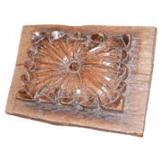 SALE Early Relief Wormy-Wood Carving