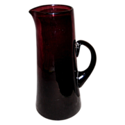 SALE Hand-blown Amethyst Tankard/Pitcher