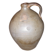 T. Crafts Ovoid Stoneware Jug Whately, Mass.