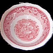 Mason's Vista Pink 9 1/4 Inch Round Vegetable Bowl