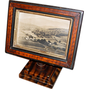 19th Century Grain-Painted Pedestal Mounted Picture Frame